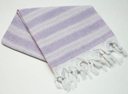 Полотенце пештемаль Турция Lines purple 95х165