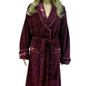 Халат велюровый ТМ Nusa фиолетовый женский (NS 3625) S размер