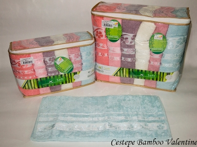 Набор полотенец из 6 штук Cestepe maxisoft Bamboo Valentine