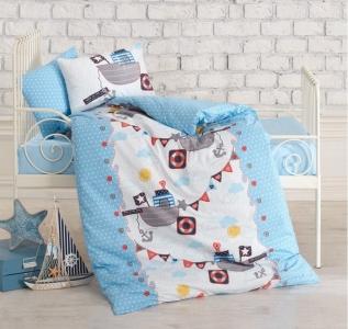 Детский постельный комплект ТМ Cotton Box ранфорс Gemici Mavi