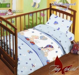 Детский постельный комплект ТМ TAG Мой ангелочек голубой
