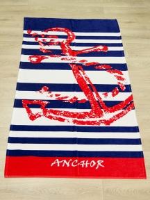 Полотенце велюровое пляжное Турция Anchor 75х150 см