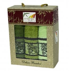 Набор полотенец кухонных 3шт ТМ Cestepe Green Ornament 30х50