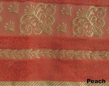 Полотенце ТМ Arya бамбук Sarmasik персиковое 70Х140