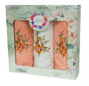 Набор полотенец из хлопка ТМ Gursan 3 шт Cotton Malina Orange