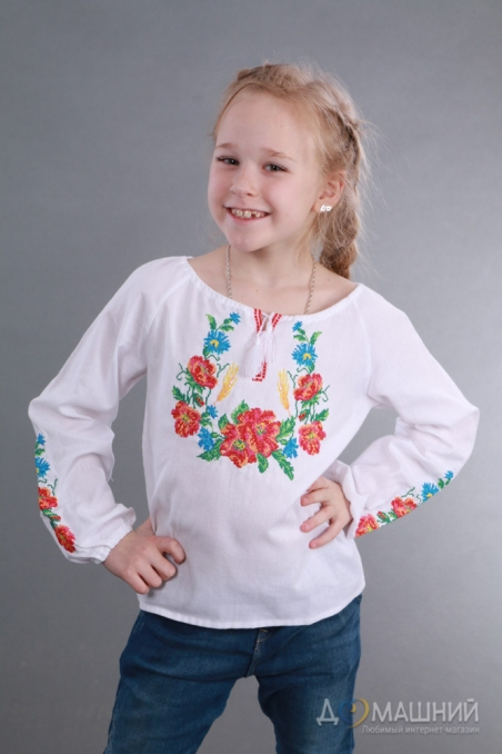 Вышиванка для девочки Веночек 4008