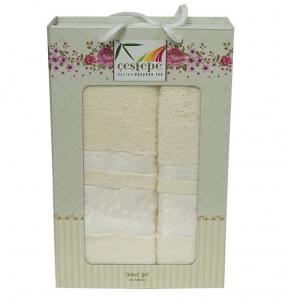 Набор полотенец из 2 штук ТМ Cestepe Bamboo кремовый
