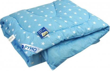 Одеяло детское зимнее шерстяное стеганое ТМ Руно Blue