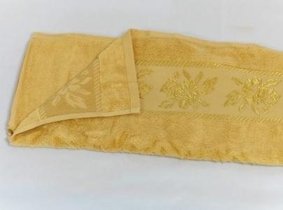 Полотенце махровое ТМ Arya Микрокоттон Lauren желтое