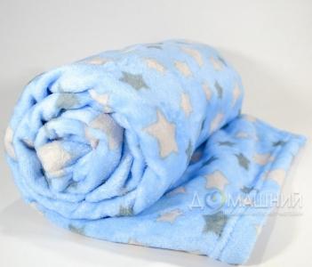 Плед флисовый ТМ Ярослав детский 100х140 см голубой