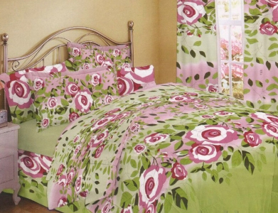 Постельное белье ТМ Nostra бязь-люкс 500-51 Violet Green евро-размер