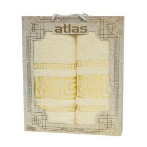Набор хлопковых полотенец Atlas Medusa кремовый 2 шт