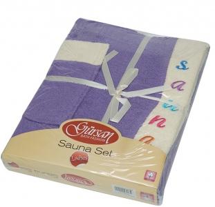 Набор ТМ Gursan для сауны женский 3-х предметный фиолетовый