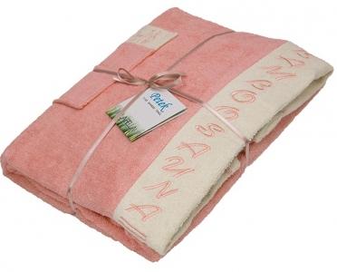 Набор ТМ Petek La Bella для сауны женский 3-х предметный бамбуковый розовый