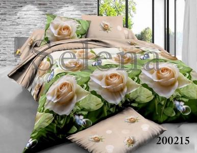 Постельное белье ТМ Selena ранфорс Роза Белая 200215