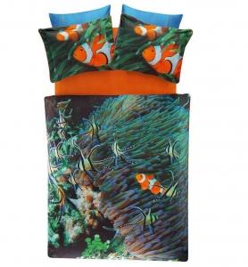 Постельное белье сатин-digital ТМ TAC Nemo евро-размер