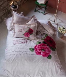 Постельное бельё ТМ Karaca Home ранфорс Romance евро-размер