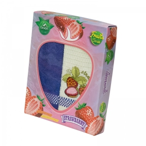 Набор полотенец кухонных ТМ Nilteks Fashion Series Fruits 2шт 50х70см клубника