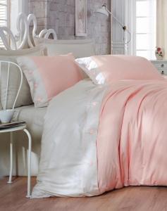 Постельное бельё ТМ Cotton Box сатин fashion Pembe 2 евро-размер