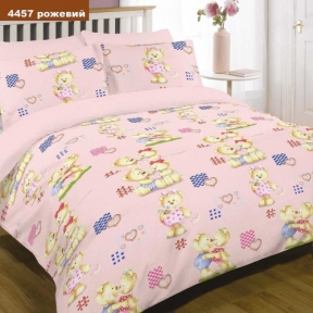 Детское постельное бельё ТМ Вилюта ранфорс 4457 розовый