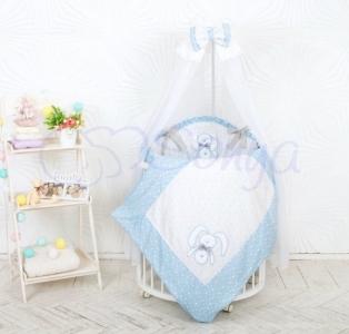 Детский набор из 7 предметов ТМ Маленькая Соня Lucky star голубой