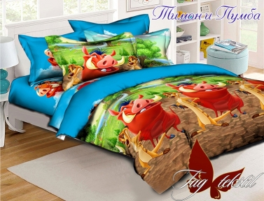 Подростковый постельный комплект ТМ TAG Тимон и Пумба