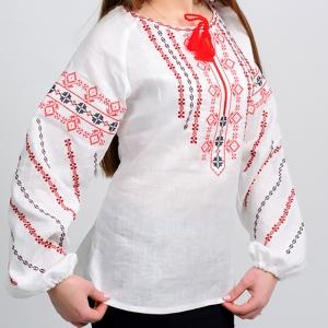 Вышиванка женская Геометрия красная с черным 1008.1