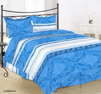 Постельное белье ТМ Nostra бязь Gold 40-0888 Blue