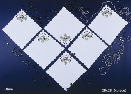 Набор салфеток для дома 6 шт ТМ Arya Kayaoglu Olive