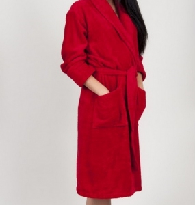 Халат махровый ТМ TAC бамбук Maison Red XXL-XXXL размер