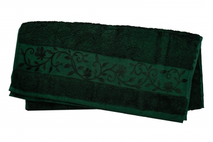 Полотенце ТМ Hanibaba Bamboo тёмно-зелёный