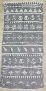 Полотенце пештемаль ТМ Cestepe Sea simbols 100х175