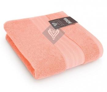 Полотенце махровое ТМ Идея Aqua Fiber персиковое