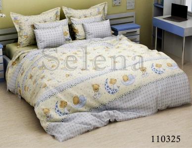 Подростковое постельное белье ТМ Selena бязь Мишки на луне beige 110325
