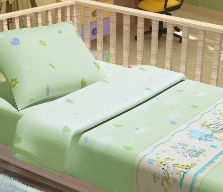 Детский постельный комплект ТМ ТOP Dreams Улыбка зелёный