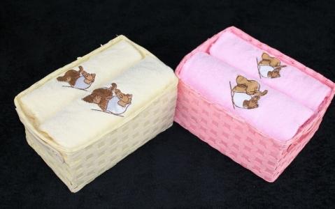 Набор махровых полотенец 2шт ТМ Arya Elephant розовый