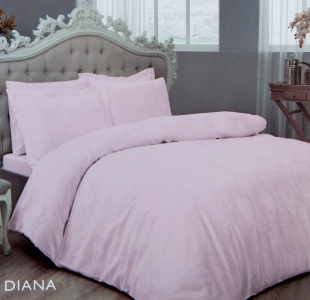 Постельное белье ТМ TAC жаккард Diana Lilac евро-размер