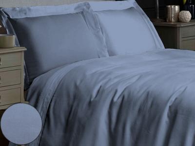 Постельное белье ТМ Novita сатин гладкокрашеный Forever blue евро-размер