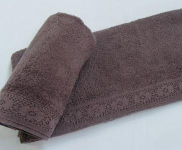 Полотенце махровое ТМ Arya Stone Wash сухая роза 50х90