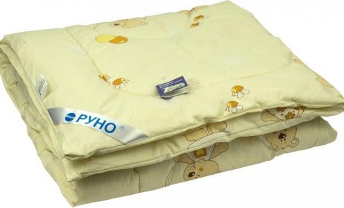 Одеяло детское силиконовое стеганое ТМ Руно бежевое
