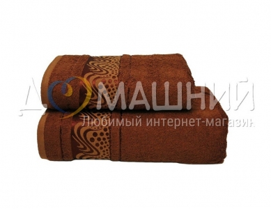 Полотенце ТМ Mariposa Bamboo Aqua коричневый