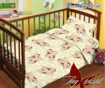 Детский постельный комплект ТМ TAG Мишки бежевый