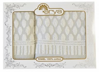 Набор махровых полотенец из 2 шт ТМ Arya жаккард Ringa