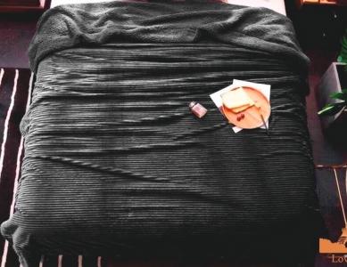 Плед-покрывало меховое ТМ Love you Полоска графит 200х220