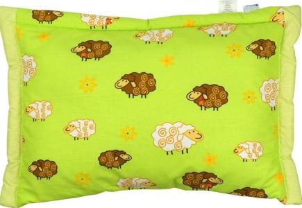 Подушка ТМ Руно детская из овечьей шерсти салатовая 40х60 см