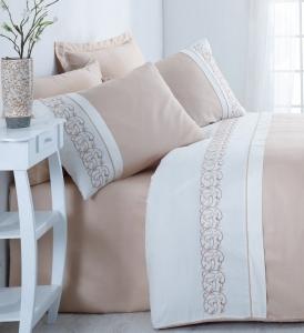 Постельное белье ТМ Cotton Box сатин с вышивкой Odila Bej евро-размер