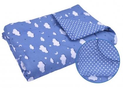 Одеяло детское хлопковое стеганое ТМ Руно Тучка голубое 140х105