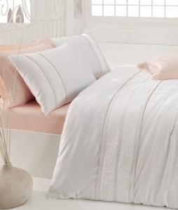 Постельное бельё ТМ Cotton Box сатин с вышивкой Alone Pembe евро-размер