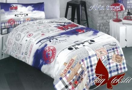 Подростковый постельный комплект ТМ TAG ранфорс Avia