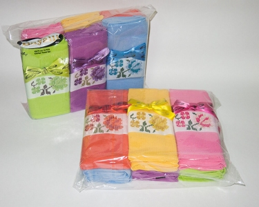Набор полотенец кухонных ТМ Bayalli Flowers 12шт 45х70